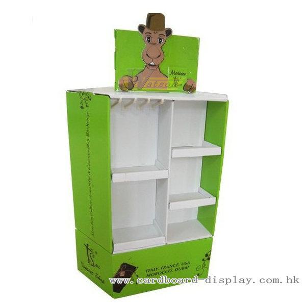 朱古力地堆式紙陳列櫃,瓦楞紙展示箱