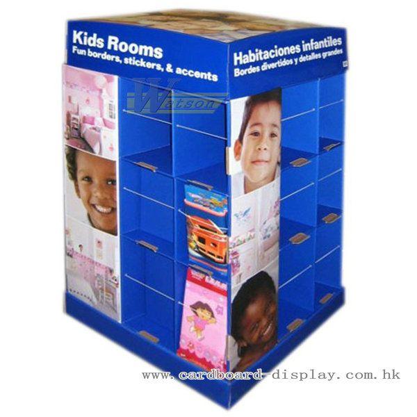 兒童玩具紙促銷架,床上用品紙陳列箱
