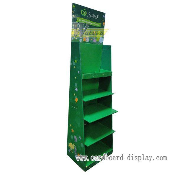 玩具瓦楞紙展示架,紙貨架